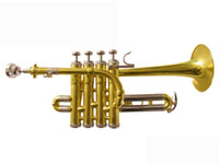 Wholesale best US HTR GL Bb piccolo trumpet Bach trumpet three tone trumpet monel piston