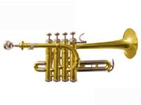 Wholesale best US HTR GL Bb piccolo trumpet Bach trumpet three tone trumpet monel piston
