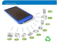 Wholesale 2600mah solar battery charger for PSP MP3 MP4 Mobile phone Cell Phone Digital camera