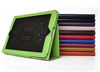 Cheap Folio PU Leather case for ipad 2 3 4 ipad air mini (2 Retina) stand cover pouches
