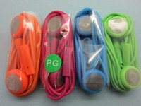 Wholesale earphone for iphone s glaxy note s s4 iTouch colorful mm earphone with mic mix colors fashion
