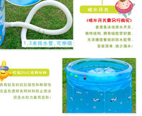 Wholesale Inflatable bath tub with angle stand Stand tyle Baby water funny swim pool Ice bear style pc