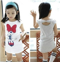 Wholesale girls Minnie short sleeved summer long T shirt children coat