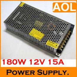 12V DC 15A 180W régulé Alimentation de commutation + câble d'alimentation AC 110-220V pour LED CCTV Telecom, 1PCS à partir de cctv universelle fabricateur