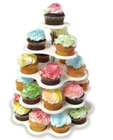 Wholesale tier cupcake stand pastry stand cake display with color box package