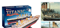 Wholesale Newest TITANIC D puzzle DIY D three dimensional puzzle D paper models