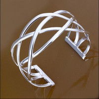 Wholesale Hot MM inch silver charm cross bangles fashion unisex bracelet