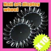Wholesale 50 tips Wheel Nail Art Display Nail Polish Display
