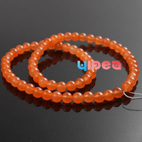 Wholesale 130pcs Orange Malay Jade Gemstone Charms Beads Fit Jewelry Bracelets Necklaces DIY