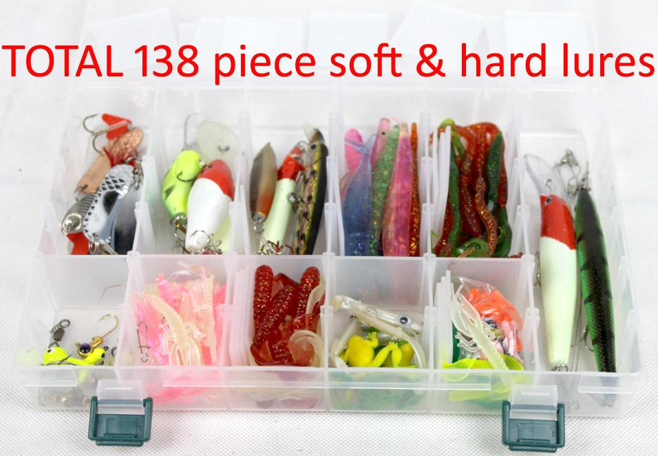 mix sea river fishing soft & hard lures bait fishing lure hook, Fly Fishing Bait