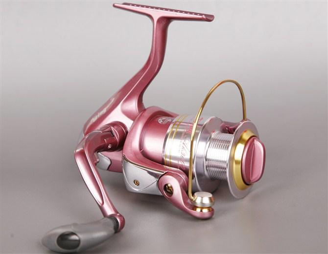 Viva flowery style ak500 pink fishing reel fishing line for Pink fishing reel
