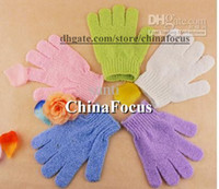Wholesale Cloth Mitt Exfoliating Face or Body Bath Scrub Moisturizing gloves April Glove S
