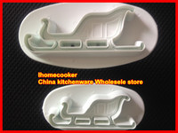 Wholesale 1set Christmas carriage cookies cutter cake fondant cutter sugarcraft mold paste sugar tool cake
