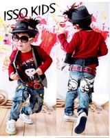 Wholesale 8 Pairs Boys Jeans Kids Denim Pants Angel Wings Childrens Trousers BP