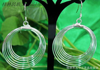 Wholesale Earrings Body jewelry Miao Silver jewelry Low silver ornaments Silver Hoop Earrings g02