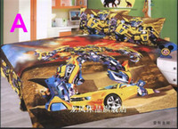 Boys' Four-piece Patterned Brand New beautiful Cartoon Kids 4pcs Set Bedding Sheet+Quilt cover+Pillowcase 4 model