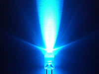Wholesale 500 x mm round Blue LED superbright bulb lamp light DIY material super bright