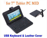 Wholesale USB Keyboard Leather Case For ipad2 Tablet PC X220 Flytouch Android
