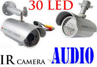Wholesale Factory price LED Waterproof Outdoor IR Night vision CCTV Camera Audio record function