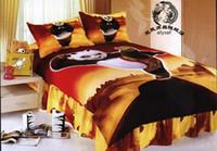 Wholesale New beautiful Kung Fu Panda Cartoon Kids Set Bedding Sheet Quilt cover Pillowcase free ship