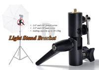 Wholesale Metal Umbrella Bracket Light Stand Mount Flash Adapter