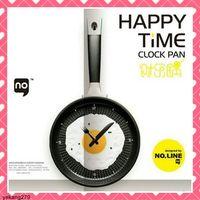 Digital novelty clocks - 1PCS HOT novelty clock wall clocks fried eggs pan shaped wall clock colors