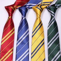 Wholesale 100 Free DHL Harry Potter tie Men s necktie Cheap School neckwear color striped neckcl
