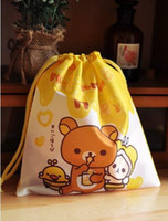 mix Plain PP 100PCS Kawaii Rillakuma Coin Purses & Wallets Pouch BAG, Strap Little Storage Pouch BAG, Beauty Case