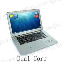 Wholesale Original D2500 quot LED Display Intel Atom Dual Core D2500 Win7 Win Windows Laptop Notebook Tablet
