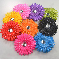 Hair Clips cloth Children's Day 9pcs Very cute Polka Dot GIRL Baby Crystal Daisy Head Flower Hair Clip Bow Agood#2900
