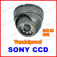Wholesale Surveillance Camera CCTV DVR Vandalproof Super HAD CCD IR mm Wide Angle Night Vision Outdoor