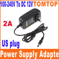 Wholesale AC V To DC V A Power Supply Converter Adapter for Led Light Strip with US plug H8258