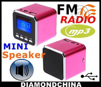 Wholesale Digital portable Speaker Mini Speaker MP3 Player FM Radio Sound Box USB Disk Micro SD TF Card