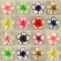 Wholesale 50 Mixed Color Fimo Polymer Clay White Petals Plumeria Flower Beads mm
