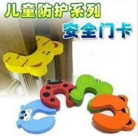 Safety Gates baby gates - 60PCS New Baby Safety Finger Pinch Guard Door Stopper Baby safety products gate card Animal model