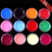 achat en gros de lampe à stylo uv-Nail Art 12 Color Pure Pure UV Gel pour UV Builder Lamp Brush Pen Forms # R308 Retail