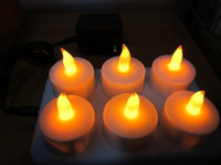 Wholesale Environmental cradle style candle lamp rechargeable candle lights with lithium battery