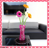 Wholesale 40PCS Foldable DIY Flower Vase Creative Fashion Folding PVC Vase Small Plastic Vase Gifts