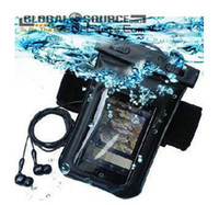 Wholesale Waterproof Case Bag soft case Earphones for iPhone Cell Phone MP3 MP4 Adjustable Diving case