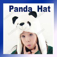 Wholesale Cartoon Animal Panda Cute Fluffy Plush Hat Cap Fashion White amp black Adeal