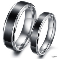 Wholesale new jewelry black concise steel ring ring titanium restoring ancient ways lovers GJ293