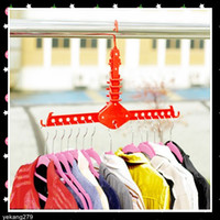 Closet folding clothes rack - Much Space Save Portable Foldaway Magic fold Clothes Rack coat Hangers