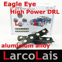 2x5 LED 10W High Power Waterproof White Eagle Eye Daytime Running Lights Reverse DRL Aluminum Alloy