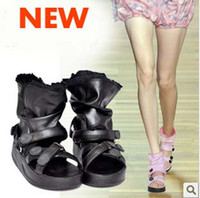 Wholesale 2012 summer newest sponge cake Leopard grain women sandal calceus shoes Shake shoes size