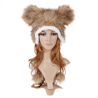 Wholesale Cartoon Animal Beanie Hat Mascot Plush Winter Warm Cap Hats H2741