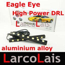 2x7 LED White Eagle Eye Daytime Running Light DRL Waterproof Tail Backup Reverse Lamp