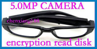 4G No  Fashion Eyewear Glasses 5.0MP CMOS 720P HD Video Hidden Camera encryption read disk TF Max 32GB