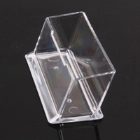 Wholesale Crystal Plastic Business Card Holder Name Cards Case Display Stands Gift For Men