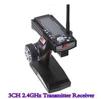Wholesale 3Ch Flysky FS GT3B FS GT3B G Gun Remote Control Transmitter Receiver RC Car Boat