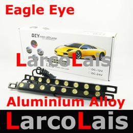 NEW 2X8 LED 16W Waterproof White Eagle Eye Car Daytime Running Light DRL Fog Lamp Aluminium Alloy